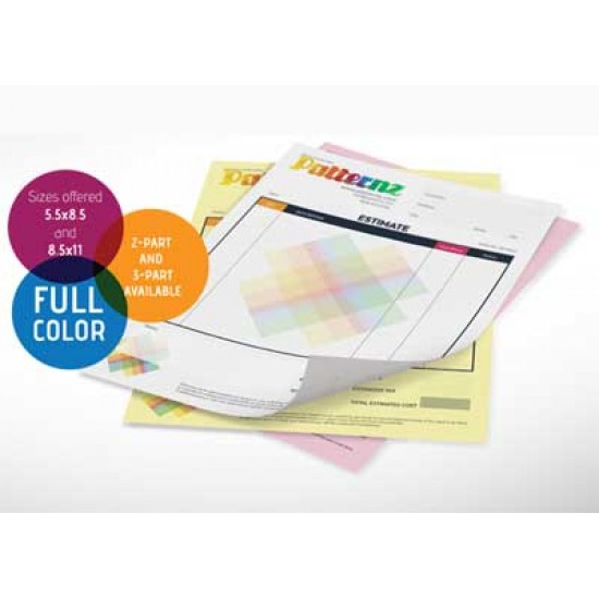 NCR Carbonless Forms Full color printing (Digital)