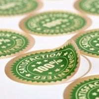 Rectangular Indoor Stickers with UV